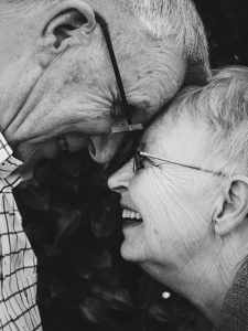 couple in long term satisfying relationship